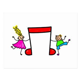 Musik-Kinder Postkarte
