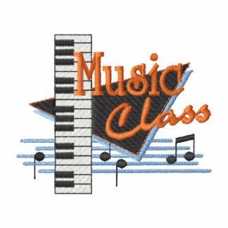 Musik-Klasse Bestickter Hoodie Mit Futter