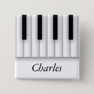Musik-Klavier befestigt Schwarz-weißes Quadratischer Button 5,1 Cm