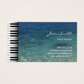 Musik-Klavier-Lehrer-Strand-Meerwasser Visitenkarte