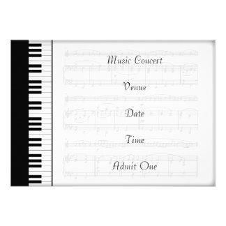 Musik-Konzert-Aufnahme-Karten-Klavier-Thema Einladungskarte