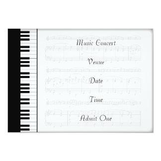 Musik-Konzert-Aufnahme-Karten-Klavier-Thema Karte