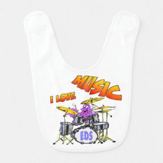 Musik-Kraken-Baby-Schellfisch Lätzchen
