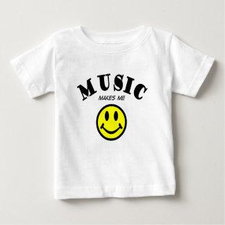Musik lässt mich lächeln baby t-shirt