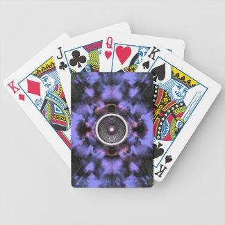 Musik-Lautsprecher auf einem lila Hintergrund Bicycle Spielkarten