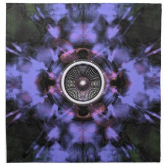 Musik-Lautsprecher auf einem lila Hintergrund Stoffserviette