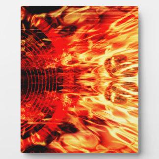 Musik-Lautsprecher mit Flammen Fotoplatte