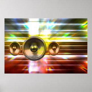 Musik-Lautsprecher und Partylichter Poster