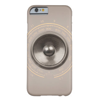 Musik-Lautsprecher und retro Radioskala Barely There iPhone 6 Hülle