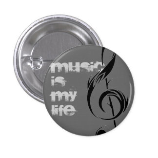 Musik = Leben Anstecknadel