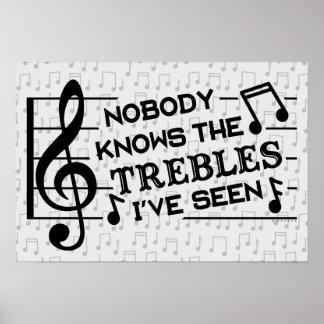 Musik-Lehrer des lustige Musiker-dreifache Poster