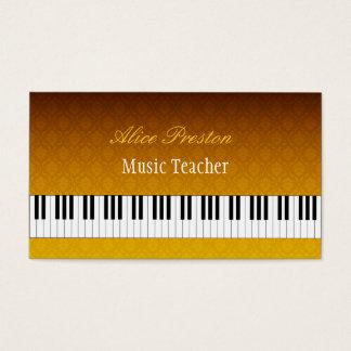 Musik-Lehrer - elegante Damast-Visitenkarte Visitenkarte