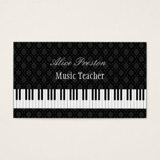 Musik-Lehrer - elegante Visitenkarte