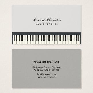 Musik-Lehrer-Klavier-Tastatur-Musiker-Pianist Visitenkarte