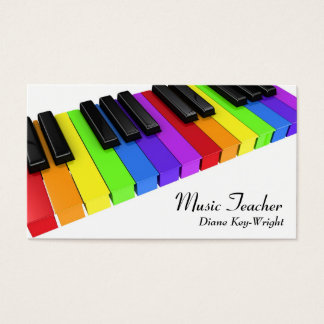 Musik-Lehrer-Klavierstunde-Visitenkarte Visitenkarte