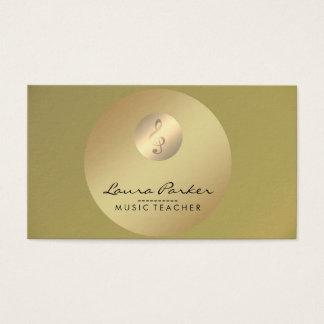 Musik-Lehrer-musikalische Anmerkungs-Goldmusiker Visitenkarte