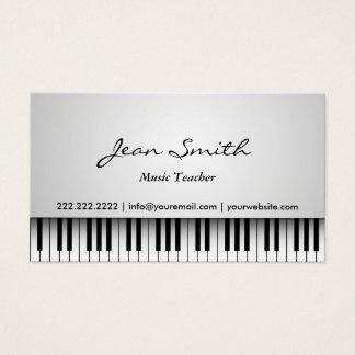 Musik-Lehrer-nobles weißes Klavier-Musical Visitenkarte