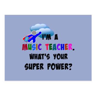 Musik-Lehrer-Superheld Postkarte