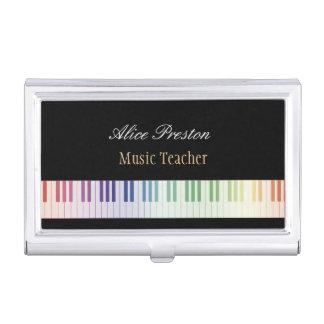 Musik-Lehrer-Visitenkarte-Halter Visitenkarten Etui