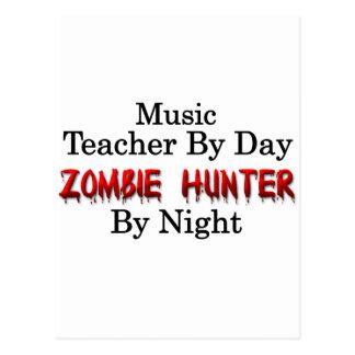 Musik-Lehrer/Zombie-Jäger Postkarte