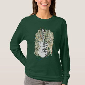 Musik-Liebhaber-Shirt! - Schmutz-Gitarren-Kunst T-Shirt