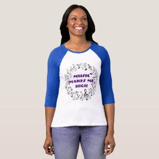 Musik macht mich hohen Musiknoten T-Shirt