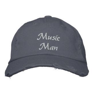 Musik-Mann gestickter Hut Bestickte Kappen