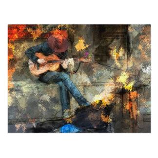 Musik-Mann Postkarte