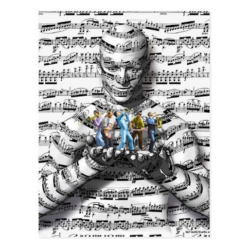 Musik-Mann Postkarten