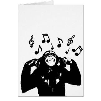 Musik monkeymonkey grußkarte