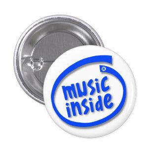 Musik nach innen runder button 3,2 cm