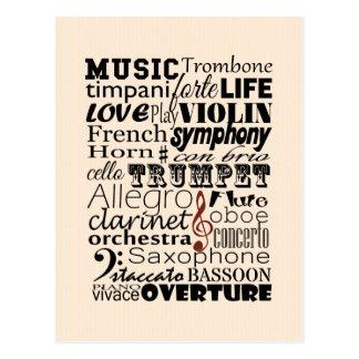 Musik-Orchester Postkarte