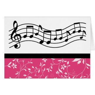 Musik-Personal-Band oder Chor-Geschenk Karte