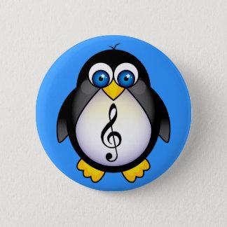 Musik-Pinguindreifacher Clef Runder Button 5,7 Cm