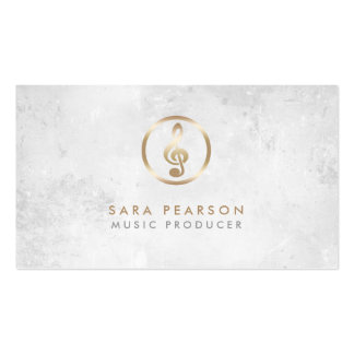 Musik-Produzent-Goldgrammophon-Ikonen-Visitenkarte Visitenkarten