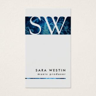 Musik-Produzent-mutige Visitenkarte