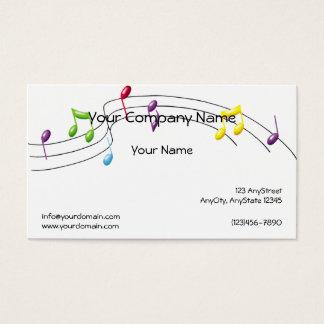 Musik-Regenbogen-Personal auf weißem Hintergrund Visitenkarte