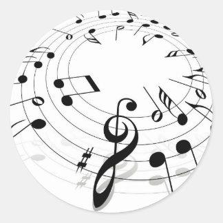 Musik Runder Aufkleber