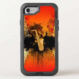 Musik, Saxophon mit Schmutz OtterBox Defender iPhone 8/7 Hülle