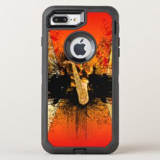 Musik, Saxophon mit Schmutz OtterBox Defender iPhone 8 Plus/7 Plus Hülle