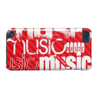 Musik; Scharlachrot Rot-Streifen- iPod Touch 5G Hülle