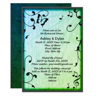 Musik, Schmetterling, Blätter, grünes Karte