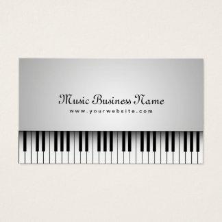 Musik-schöner weißer Flügel Visitenkarte
