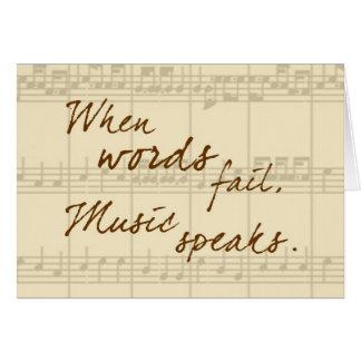 Musik spricht grußkarte