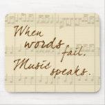 Musik spricht mauspad