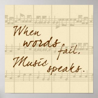Musik spricht poster