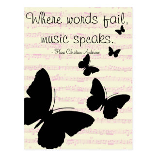 Musik spricht Zitat-Postkarte Postkarte