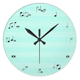Musik-Stempeluhr - tadelloses Pastellblau Uhr