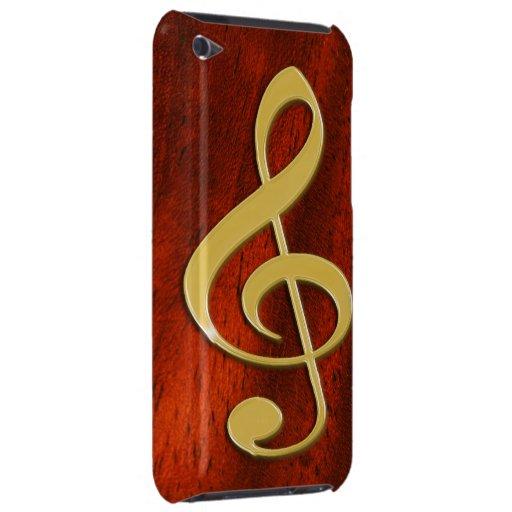 Musik-Symbol auf Kirschhölzernem iPod-Kasten Case-Mate iPod Touch Case