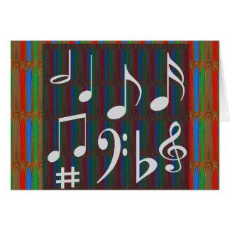 Musik-Symbol-Band-Musiker Mastreo Sänger-Lieder Grußkarte